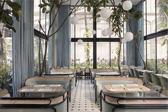 GamFratesi Furniture Decorate the Harlan+Holden Glasshouse Café