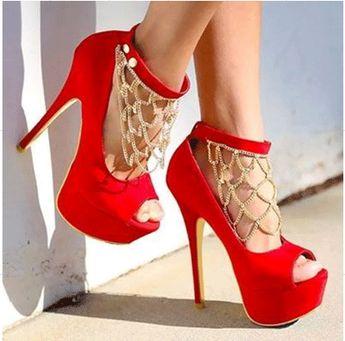 $67.99 Dresswe.com SUPPLIES Fashion Suede Platform High Heel Shoes with Rhinestone Decoration