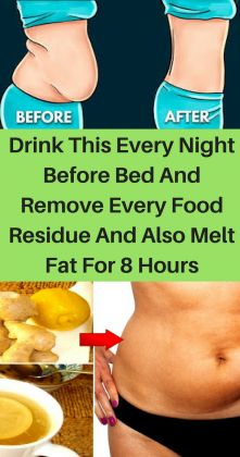 Drink This Every Night Before Bed and Remove Every Food Residue and Also Melt Fat for 8 Hours #Facefatburnermachine