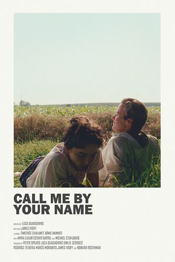 Call Me by Your Name alternative movie poster Visit my STORE