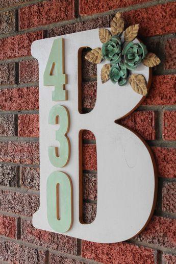 DIY Monogram Address Plaque