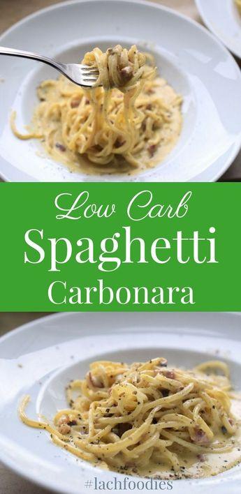 Low Carb Spaghetti Carbonara