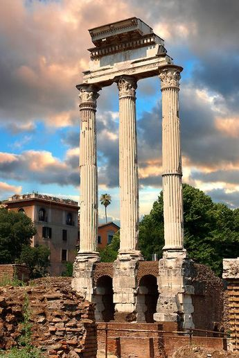The Temple of Castor and Pollux, The Forum Rome Italy