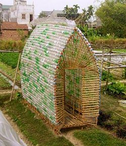 Build your own greenhouse out of recycled plastic bottles!