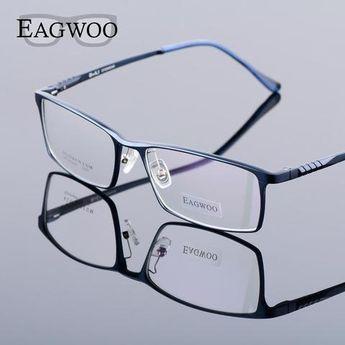 381e63fbe3f5 Eagwoo Aluminum Men Wide Face Prescription Eyeglasses Full Rim Optical  Framemodlilj