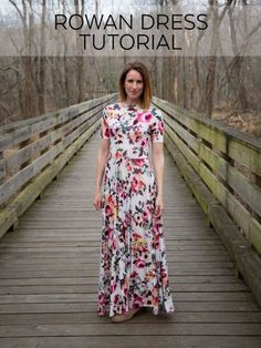 How to sew a knit maxi dress using the Rowan sewing pattern