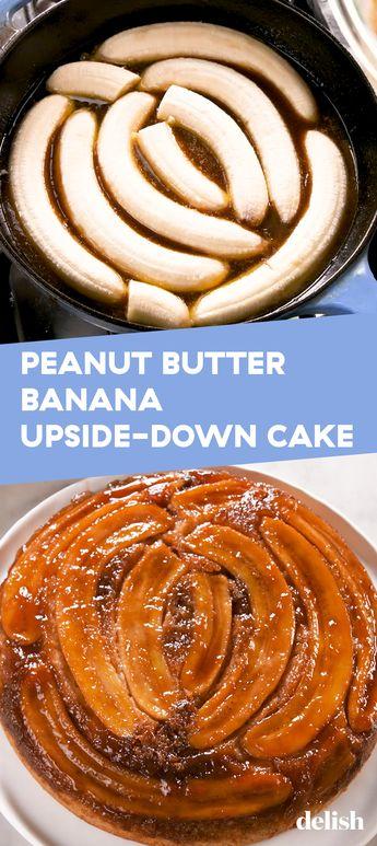 Peanut Butter Banana Upside-Down Cake