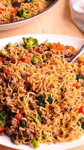 Beef Ramen Noodles Stir-Fry