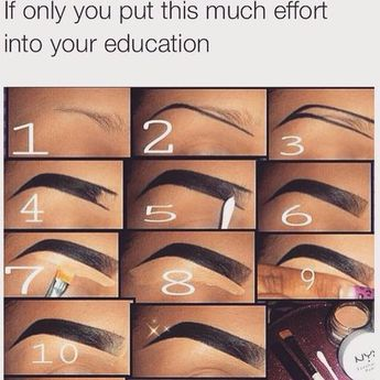 How To Draw On Eyebrows