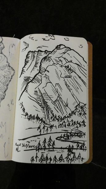 "robyn-la: "" Mountain sketches from my Banff climbing weekend, #1 """