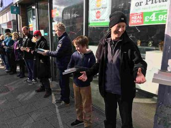 How Do You Move A Bookstore? With A Human Chain, Book By Book