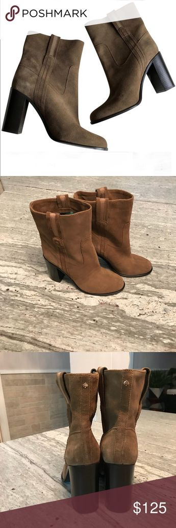 """c2fe937472f5 NWT Kate Spade Vero Cuoio """"Baise"""" Suede Boots Purchased at Nordstrom Rack  Leather upper"""