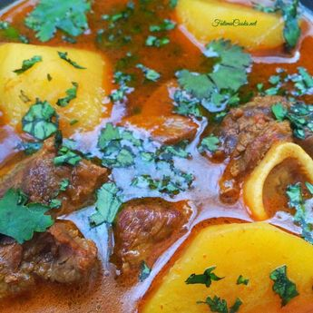 Aloo Gosht Shorba - Pakistani Lamb and Potato Curry