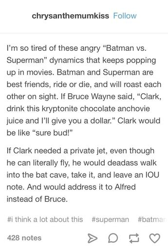 finally – someone who agrees with me on the proper Batman/Superman dynamic