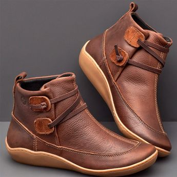 Braided Strap Flat Heel All Season Boots - Black 40
