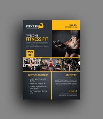 Creative Fitness Center Flyer Template - Graphic Templates