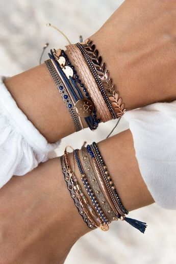 Express your individuality by mixing as you like it  ☺✓  #bracelets #combinations #mix