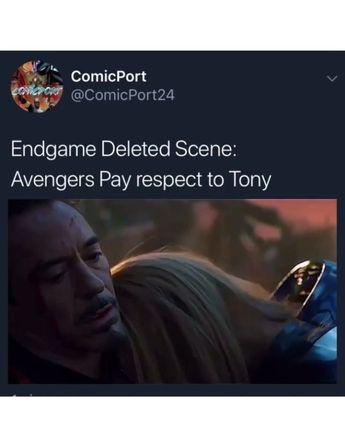 #marvel #avengersendgame #theavengers #avengers #tonystark The post avengers: endgame deleted scene appeared first on Marvel Memes.