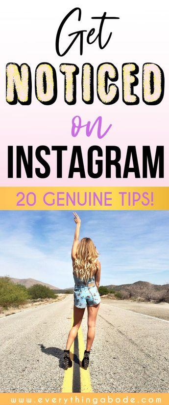 20 Tips For More Instagram Followers