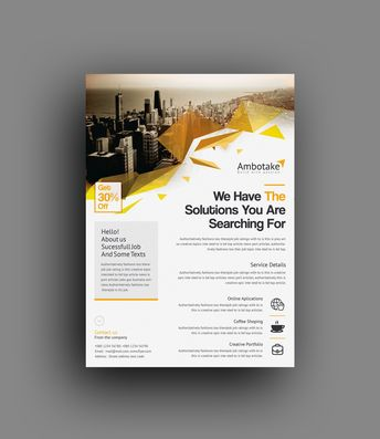 Notus Professional Corporate Flyer Template - Graphic Templates