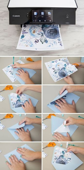 Wow! These Free Printable Floral Envelope Liners Are Gorgeous!
