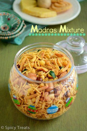Spicy Treats: South Indian Mixture / Madras Mixture / Diwali Mixture