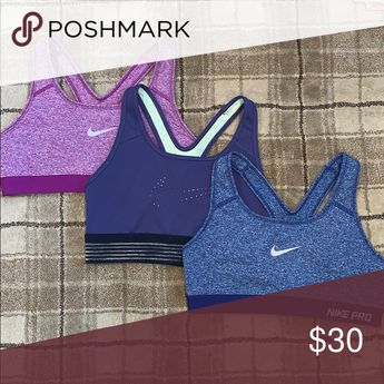 Nike Dri-Fit Sports Bra Bundle All perfect condition! More pictures on the individual listings! Nike Intimates & Sleepwear Bras