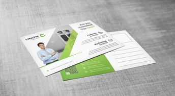 Minimal Creative Corporate Postcard Template - Graphic Templates