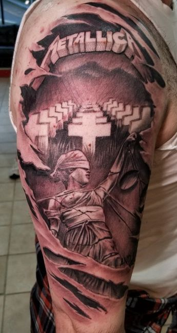 My New And Justice For All Tattoo Metallica Ink