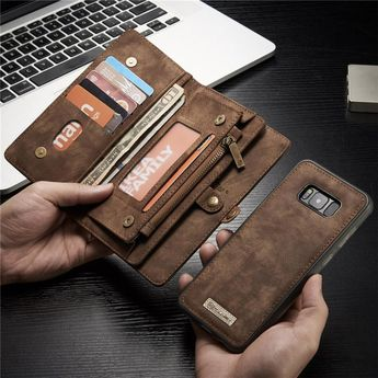 Magnetic Wallet Phone Bags Case Genuine Leather Flip Cove For Samsung Galaxy S8 S7