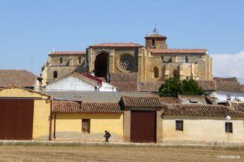 Road to Carrion de los Condes | Church Santa Maria La Blanca in Villacazar #Camino 2015 july McG - day 19