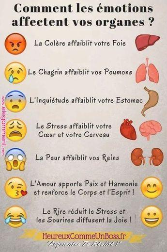 Émotions et organes - #émotions #organes