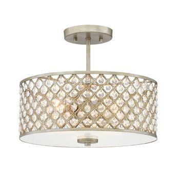 allen roth Elloree 3-Light 17.5-in Brushed Nickel Square Vanity Light LWS3075C