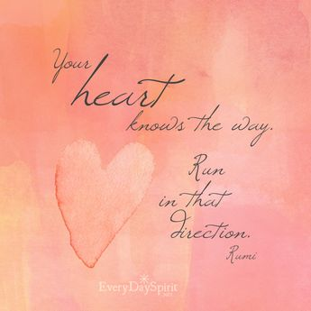 Your heart knows. For the app of beautiful wallpapers ~ www.everydayspirit.net…