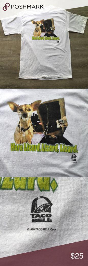 Yo Quiero Dog Chihuahua 1998 lizard box Shirt XL. Taco Bell Yo Quiero Dog Chihuahua T shirt Godzilla 1998 lizard box size XL. Taco Bell Shirts Tees - Short Sleeve