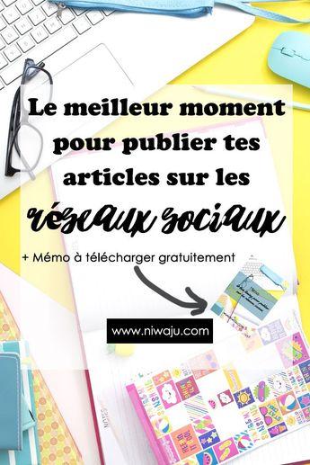 Management : Le meilleur moment pour publier vos articles sur les réseaux sociaux et atteind... - InfographicNow.com | Your Number One Source For daily infographics & visual creativity