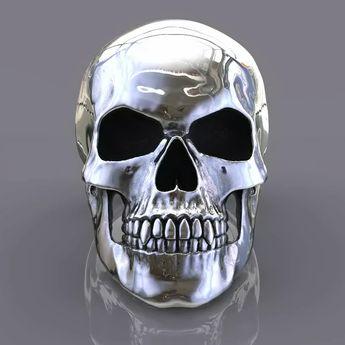 Skull ring. Sterling silver handmade skull rings. Skull Jewellery. Skull rings for men. Skull rings for women. Biker jewellery. Made in London.