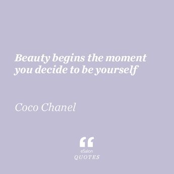 At eSalon, we strive to inspire confidence and happiness within, and we're firm believers that the two aren't possible until you're empowered to totally be yourself. We think Coco would agree (and use our custom color, too)! #hair #quotes #memes #funny #shampoo #often #dryshampoo #hairstylist #keratin #styling #blonde #brunette #redhead #howto