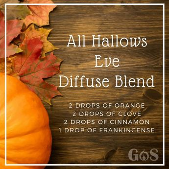 Happy Halloween GOS family! We hope you all stay safe and happy today. If you are staying home and handing out treats, try this diffuser blend. It is sweet and spicy and we think you'll