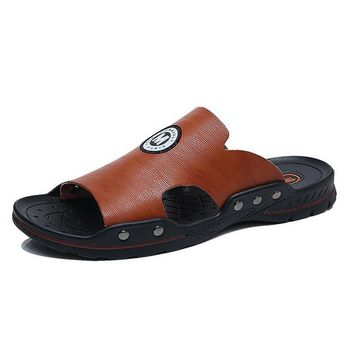 Men Opened Toe Comfy Soft Sole Slip On Water Casual Slippers