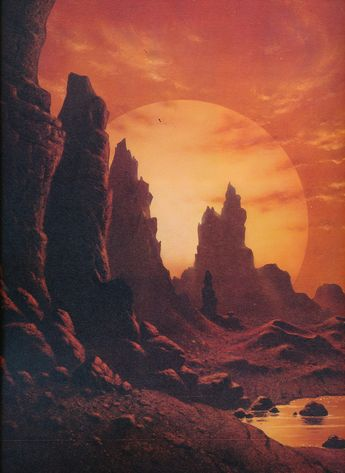 David A Hardy 'Planet of Proxima Centauri' (1989)