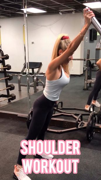 Gym Shoulder Workout - @ambrymehr IG for free daily