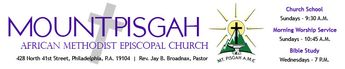 MOUNT PISGAH IS A CHURCH THAT BELONGS TO GOD.  We are a church in which God reigns, Jesus Christ is Lord, and Holy Spirit is in operation in His fullness.   God's word is preached and taught with power and effectiveness.  The worship of God is enhanced by quality, high impact liturgical arts ministries that effectively minister to every age group.  The Spirit of God guides each worship experience, so that worship is engaging and empowering for all of its participants.