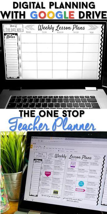 Editable Teacher Binder | FREE Updates | Digital Teacher Planner | Google Drive