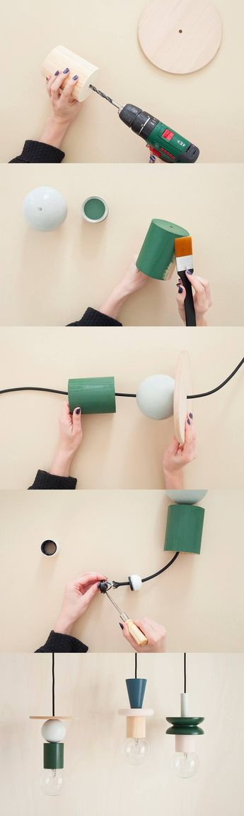 Lámparas geométricas DIY - heju.fr - DIY Suspension Totem Lamp #LampDIY