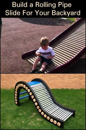 Build a Rolling Pipe Slide For Your Backyard