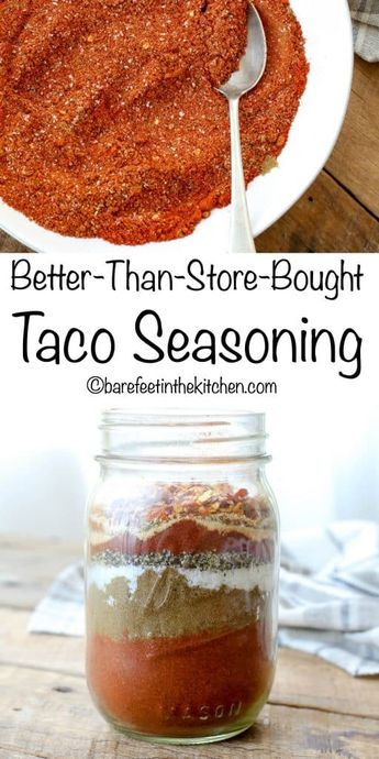 Make your own Taco Seasoning! get the recipe at barefeetinthekitchen.com