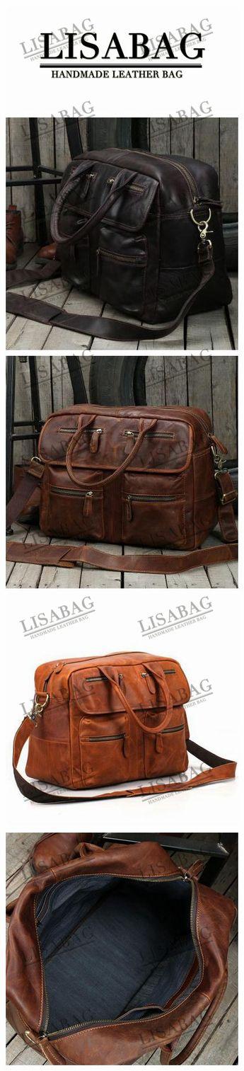 Handmade Coffee Top Grain Leather Briefcase Messenger Bag 15   Laptop Bag  9002 - Dark c31409f5f5