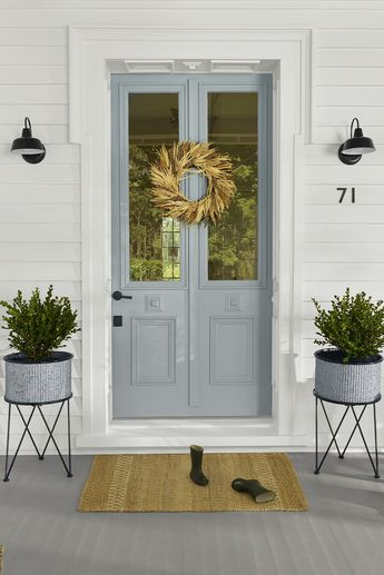 Freshen up your home's facade with outdoor décor that creates a car-stopping look. Find quick front porch decorating ideas for a fall refresh at Walmart.