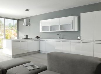 Zurfiz White High Gloss Acrylic Kitchen Doors